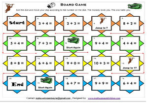 image relating to Algebra Games Printable named Arithmetic: math board online games,Math online games for Young children, math