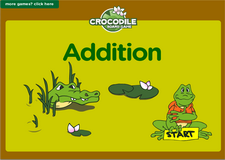 1st grade addition online math crocodile board game