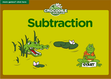 1st grade subtraction online math crocodile board game