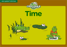 1st grade telling time online math crocodile board game