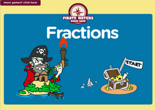 1st grade fractions pirate waters online math  board game
