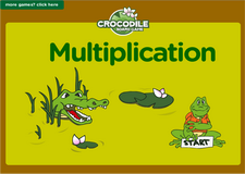 2nd grade multiplication game - Online crocodile math board game