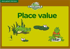 2nd grade place value game - Online crocodile math board game