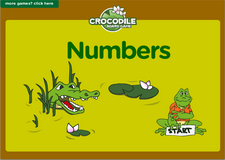 2nd grade learning numbers game - Online crocodile math board game