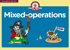 2nd grade mixed operation game - Online pirate waters online math board game