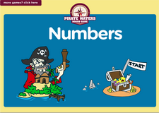 2nd grade numbers game - Online pirate waters online math board game