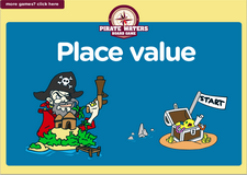 2nd grade place value game - Online pirate waters online math board game