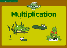 3rd grade multiplication crocodile online math board game