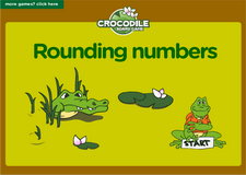 3rd grade rounding up numbers crocodile online math board game