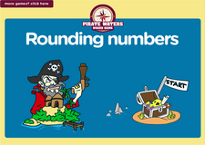 3rd grade rounding up numbers pirate waters online math board game