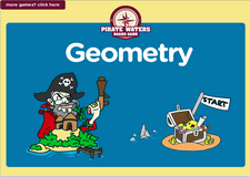 4th grade geometry online pirate waters math board game