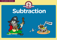 4th grade subtraction online pirate waters math board game