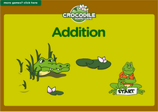 5th grade addition crocodile math board game online