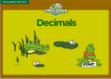 5th grade decimals crocodile math board game online