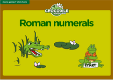 5th grade Roman numerals crocodile math board game online
