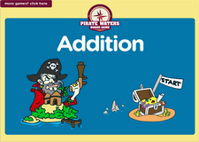 5th grade addition pirate waters math board game online
