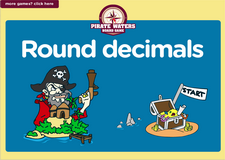 5th grade decimals pirate waters math board game online