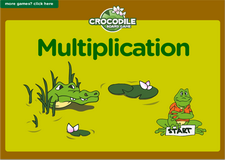 6th grade multiplication interactive online math crocodile board game