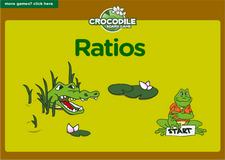 6th grade ratios interactive online math crocodile board game