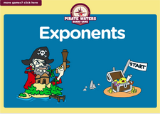 6th grade exponents pirate waters board game online