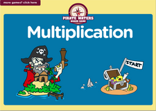 6th grade multiplication pirate waters board game online