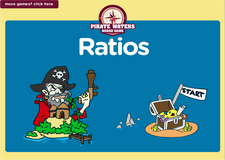 6th grade ratios pirate waters board game online