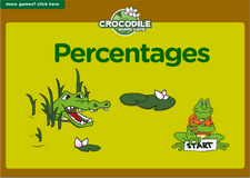 7th grade percentages interactive online math crocodile board game