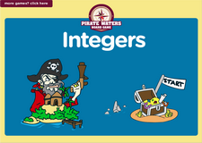 7th grade integers pirate waters board game online