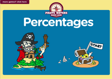 7th grade percentages pirate waters board game online