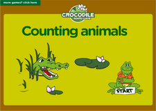 learn counting animals crocodile math board game for kindergarten and preschool
