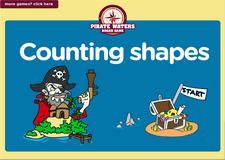 Counting shapes pirate waters online board game for preschoolers and kindergarten