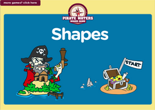 Shapes and geometry pirate waters online math board game for preschoolers and kindergarten kids